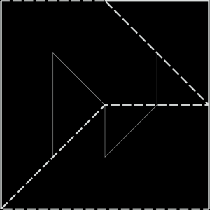 Structure from lines and diagonals of squares